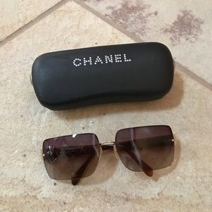 Chanel Sunglasses Brown Purple Charcoal Fade Lens